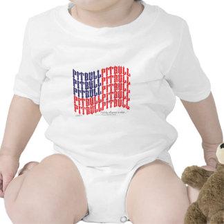 PITBULL American Flag Baby Bodysuit