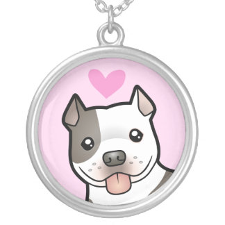 Pitbull / American Staffordshire Terrier Love Silver Plated Necklace