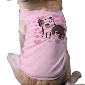 Pitbull / American Staffordshire Terrier Love Sleeveless Dog Shirt