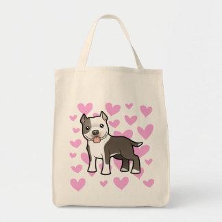 Pitbull / American Staffordshire Terrier Love Tote Bag
