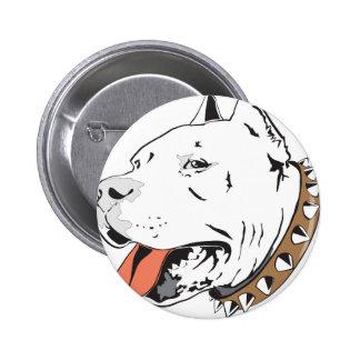 Pitbull 6 Cm Round Badge