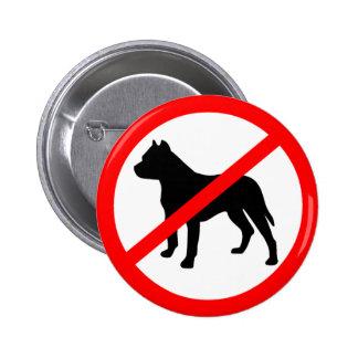 Pitbull Ban 6 Cm Round Badge