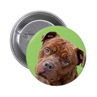 """Pitbull """"Benz"""" Fences For Fido Mens Tie 6 Cm Round Badge"""