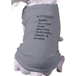 "Pitbull ""Benz"" of Fences For Fido DOG SWEATER Pet Tshirt"