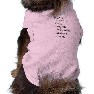 "Pitbull ""Benz"" of Fences For Fido DOG SWEATER Sleeveless Dog Shirt"