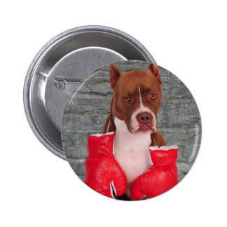 Pitbull Boxer 6 Cm Round Badge