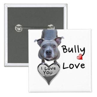 Pitbull Bully Love Button