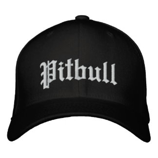 pitbull cap exclusive embroidered baseball cap