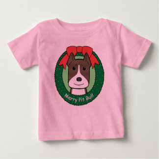 Pitbull Christmas Baby T-Shirt
