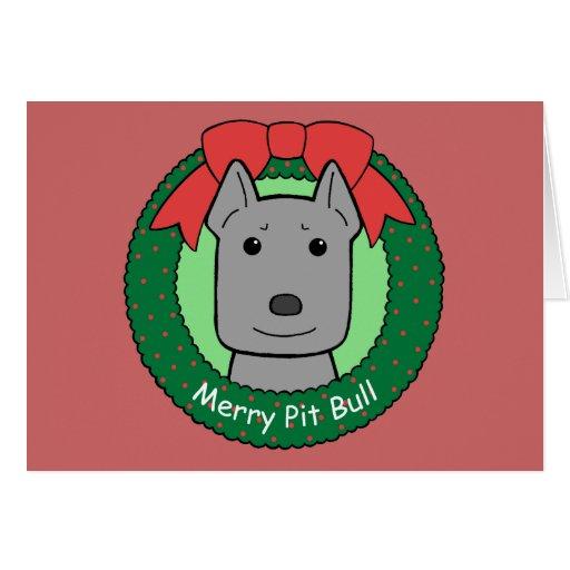 Pitbull Christmas Card