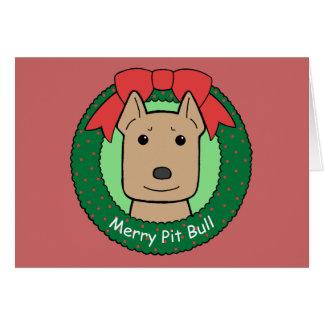 Pitbull Christmas Note Card