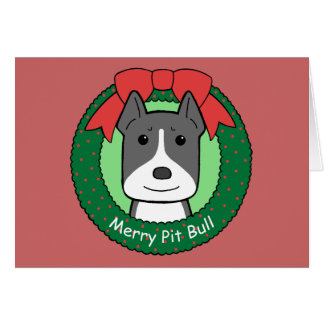 Pitbull Christmas Note Card