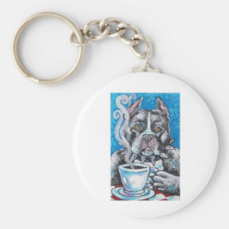 pitbull coffee key ring