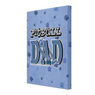 Pitbull DAD Canvas Print
