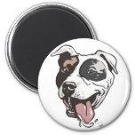 Pitbull design by Mudge Studios Refrigerator Magnets