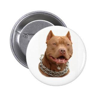 Pitbull dog 6 cm round badge