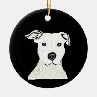 Pitbull dog breed christmas ornament