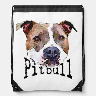 Pitbull Dog Drawstring Bag