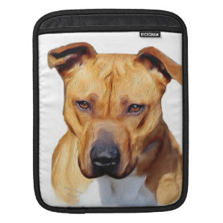 Pitbull dog iPad sleeve