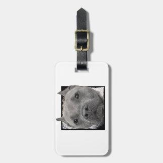 Pitbull dog luggage tag