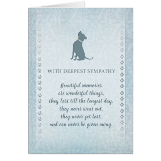 Pitbull Dog Sympathy Beautiful Memories Card