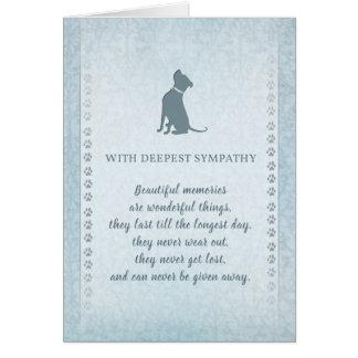 Pitbull Dog Sympathy Beautiful Memories Greeting Card