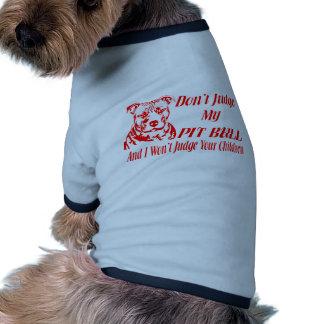 PITBULL DON'T JUDGE RINGER DOG SHIRT