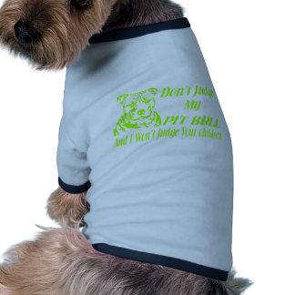 PITBULL DON'T JUDGE DOG T SHIRT