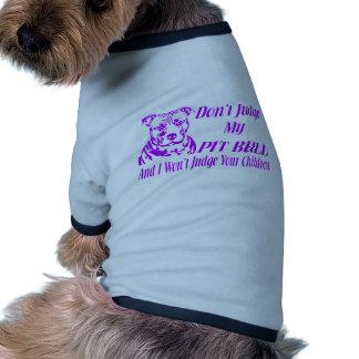 PITBULL DON'T JUDGE DOG TEE