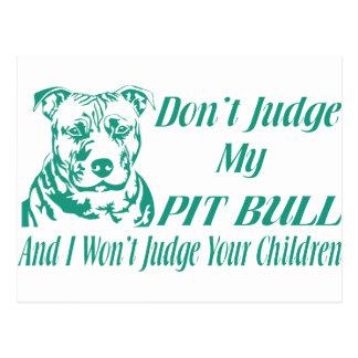 PITBULL DON'T JUDGE POSTCARD