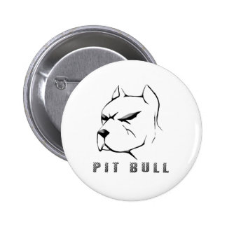 Pitbull draw 6 cm round badge