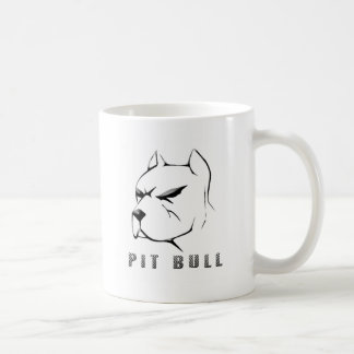 Pitbull draw coffee mug