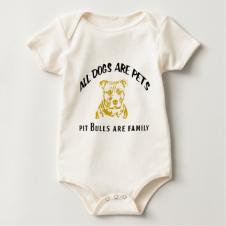 PITBULL FAMILY BABY BODYSUIT