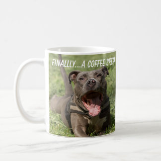Pitbull In the Grass Coffee Mug