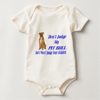 PITBULL JUDGEMENT BABY BODYSUIT
