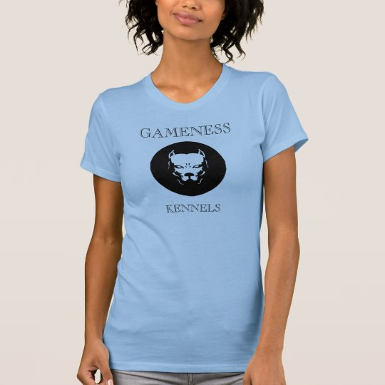 Pitbull logo dog, GAMENESS, KENNELS T-Shirt