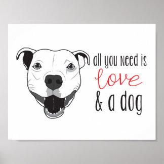 Pitbull Love Poster