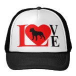 PITBULL LOVE RED AND BLACK HAT