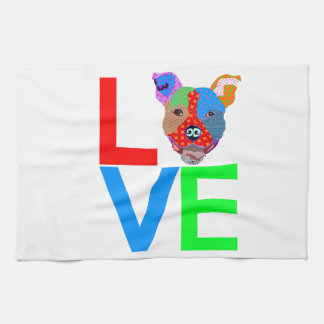 Pitbull Love Tea Towel