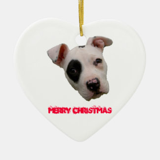 Pitbull Merry Christmas Christmas Ornament