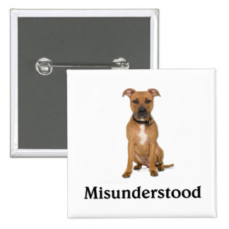 Pitbull - Misunderstood 15 Cm Square Badge