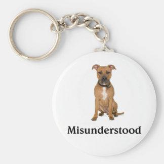 Pitbull - Misunderstood Basic Round Button Key Ring