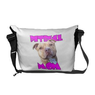 Pitbull Mom Dog Messenger Bag