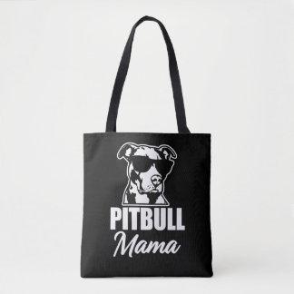 Pitbull Mom funny saying women's bag