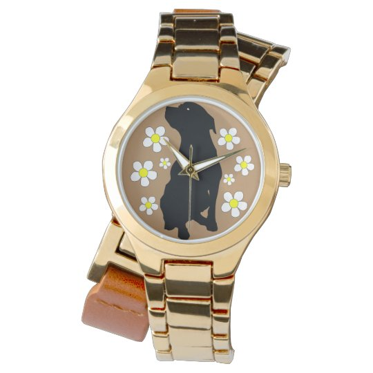 Pitbull Momma Womens Gold Wrap Watch
