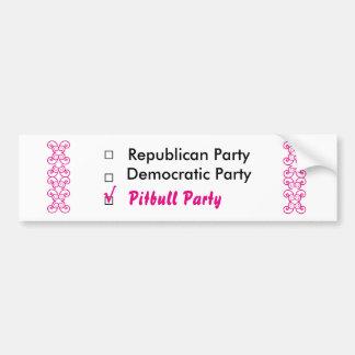 Pitbull Party Bumper Sticker