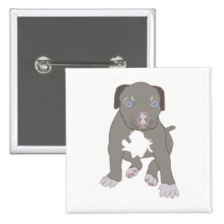 Pitbull Puppy 15 Cm Square Badge