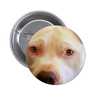 Pitbull Puppy Dog Eyes Art Photography 6 Cm Round Badge