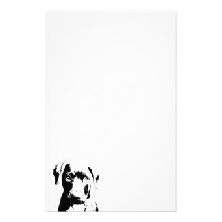 Pitbull puppy face customized stationery