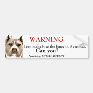 Pitbull Security Bumper Sticker